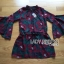 Lady Amanda Dramatic Burgundy Floral Printed Flared-Sleeve Dress L239-69C10 thumbnail 20