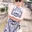 DR-LR-136 Lady Paula Glamorous Chic Italian Print Dress thumbnail 2