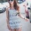 Lady Stephanie Pretty Embroidered Lace Mini Dress L155-69C14 thumbnail 5