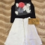 ชุดเซ็ท เสื้อตกแต่งดอกไม้ + กระโปรงผ้าสีขาว เนื้อหนา thumbnail 2