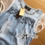 Lady Rebecca Embroidered and Crystal Embellished Denim Ensemble Set thumbnail 7