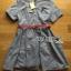 Lady Sara Minimal Asymmetric Grey Dress with Red Belt L250-69C09 thumbnail 11