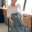 Lady Coco Cotton White Shirt with Denim Skirt Dress L202-69B10 thumbnail 5