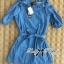 DR-LR-231 Lady Adele Off-shoulder Denim Ribbon Dress thumbnail 11