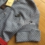Lady Sara Minimal Asymmetric Grey Dress with Red Belt L250-69C09 thumbnail 15