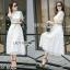 Maxi Dress เดรสยาวผ้าลูกไม้ สีขาว thumbnail 1