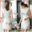 DR-LR-129 Lady Kelly Haute Glam Flowery Dress in White thumbnail 8