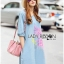Lady Elizabeth Modern Chinese Roses Printed Denim Dress L256-75C04 thumbnail 6