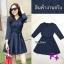 Mini Dress ผ้าทอลายสก๊อต โทนสีกรม สวยๆๆ แขนยาว คอวี thumbnail 4
