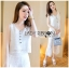 Lady Cara Holiday Casual White Lace Cropped Top and Culottes Set L253-75C22 thumbnail 4