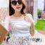 Self-Portrait Off-Shoulder White Lace Corset L263-6914 thumbnail 2