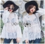 Lady Ashley Sweet Classic Lace Peplum Top in White L261-6909 thumbnail 4