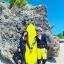 SM-V1-553 ชุดว่ายน้ำแขนยาวขายาว เซ็ต 4 ชิ้น สีดำตัดขอบลายเหลืองสวยๆ yellow-black soldier thumbnail 7