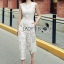 Lady Katy Smart Casual White Guipure Lace Jumpsuit L272-8917 thumbnail 14