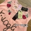 Dolce & Gabbana Sequin Rose Embroidered Pink Dress L195-89C01 thumbnail 12
