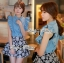 DS-PP-036 Lady Marry Ruffle Denim Shirt and Flowery Skirt Set thumbnail 12