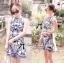 DR-LR-136 Lady Paula Glamorous Chic Italian Print Dress thumbnail 4