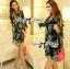 Lady Daria Beachy Blossom Print Chiffon Mini Dress L197-65C11 thumbnail 3