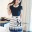 DR-LR-209 Lady Claire Mixed Print Sleeveless Insert Chiffon Shirt Dress thumbnail 6