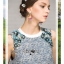 Lady Jessie Sweet Floral Embellished Mixed Fabric Dress L275-8915 thumbnail 11