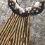 Dress คอปาด ระบายหน้าพร้อมผ้าพิมพ์ลาย ตัวเดรสผ้าลายริ้ว thumbnail 4