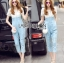 Lady Sophie Smart Casual White Lace and Blue Jumpsuit L269-7519 thumbnail 6