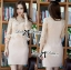 DR-LR-220 lady Elisa Classy Glam Embellished Insert Lace Dress in Nude thumbnail 10