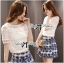 Lady Helena Sweet Casual Lace Top and Printed Skirt Set L162-85E01 thumbnail 1