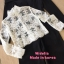 Set เสื้อครอปแขนยาว คอตั้ง เนื้อผ้าลูกไม้ซีทรู มาคู่กับจั้มสูทปาดไหล่สีดำ thumbnail 6