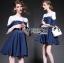 Lady Julia Feminine Ballet Lace and Denim Dress L207-79C02 thumbnail 1