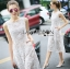 Lady Katy Smart Casual White Guipure Lace Jumpsuit L272-8917 thumbnail 4