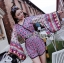 Issue Cassandra Colourful Printed Kimono Playsuit L261-6913 thumbnail 10