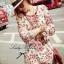 DR-LR-088 Lady Merry Blooming Print Glittery Mini dress thumbnail 5