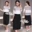 Korean lace print two-piece leg trousers by Aris Code thumbnail 1