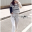 Lady Leslie Lace Embroidered Jersey and grey Culottes Set L266-79C03 thumbnail 7