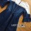 Lady Julia Feminine Ballet Lace and Denim Dress L207-79C02 thumbnail 9
