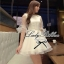 DR-LR-031 DLady Pure White Organza Mini dress thumbnail 5
