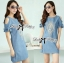 DR-LR-282 Lady Rachel Vintage Cut-Out Ruffle Shoulder Embroidered Dress thumbnail 4