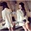 DR-LR-207 Lady Eva Basic Minimal Chic Flared Shirt Dress in White thumbnail 7