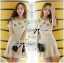 DR-LR-092 Lady Eva Sweet Perfect Embellished Flower Mini Dress thumbnail 1