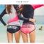 SM-V1-578 ชุดว่ายน้ำแขนยาว กางเกงขาสั้นสีชมพูบานเย็นสวย ๆ thumbnail 8
