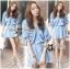 DR-LR-096 Lady Eugene Baby Blue Bohemian Dress thumbnail 8