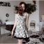 DR-LR-087 Lady Avril Minimal Chic Swirl Print Dress thumbnail 4
