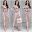 Lady Leslie Playful Chic Painting Printed Top and Shorts Set L263-6915 thumbnail 6