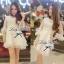DR-LR-031 DLady Pure White Organza Mini dress thumbnail 9