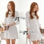 DR-LR-106 Lady Yuri All White Glam Chic Shirt Dress thumbnail 8