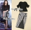 Lady Avril Chiffon Blouse and Pencil Skirt in Houndstooth Print Set thumbnail 2