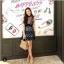 Mini Dressแขนกุดเนื้อผ้าซีทรูสีดำปักลายดอกไม้ thumbnail 3