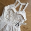 Lady Annette Pearl Embellished Laser-Cut Apron Dress in White thumbnail 8