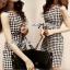 Lady Lesslie Sweet Houdstooth Tweed Dress L134-69C06 thumbnail 1